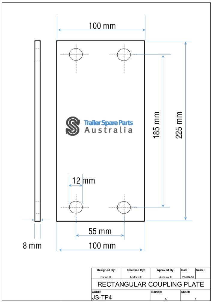 TP4 Rectangle Coupling Plate Web