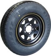 """TSPA-RTY-14-FB Rim & Tyre 14"""" Sunraysia Ford B Black"""