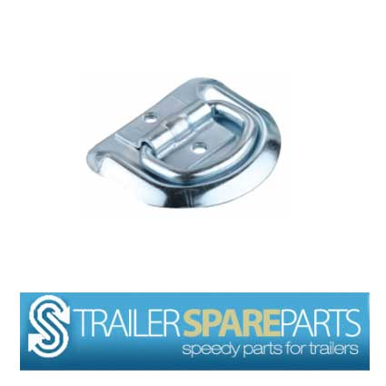 TSPA-LR-D1 Lashing D Ring 1 (Zinc Plated) Body - 80mm x 70mm