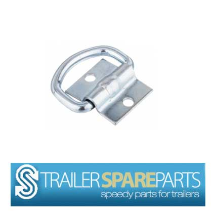 TSPA-LR-D3 Lashing D Ring 3 (Zinc Plated) Centre hole->hole 30mm