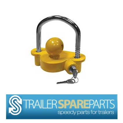 TSPA-CLOC-Y Coupling Lock Yellow Powdercoated with built in lock