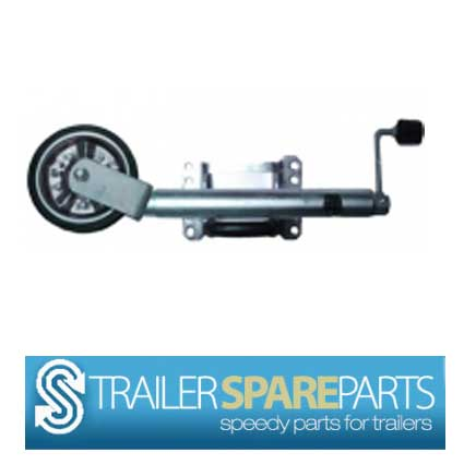 "TSPA-JW10SB-S 10"" Jockey Wheel Swing Up Steel Wheel w/ needle be"