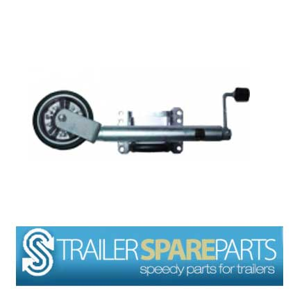 "TSPA-JW08SB 8"" Jockey Wheel Swing Up Steel Wheel w/ needle beari"