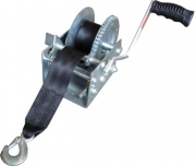 TSPA-WIN-A1600 Hand Winch with strap 1600lbs - Dacromet Coated