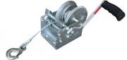 TSPA-WIN-S1600 Hand Winch w Steel rope 1600lbs - Dacromet Coated