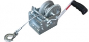 TSPA-WIN-S2500 Hand Winch w Steel rope 2500lbs - Dacromet Coated