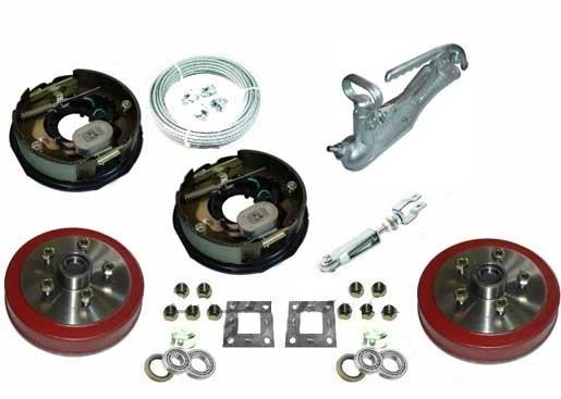 """TSPA-EBKIT 10"""" Electric Drum Brake Kit"""