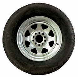 """92755W  13"""" Multi Fit  HT & Ford Wheel  & Tyre 165LT Assembly Ga"""