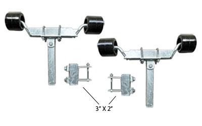 "91972 Twin Front Adjustable Wobble Roller Assemblies 3""x2"""