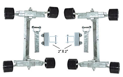 "91983  8 Adjustable Wobble Roller Assemblies 4""x2"""