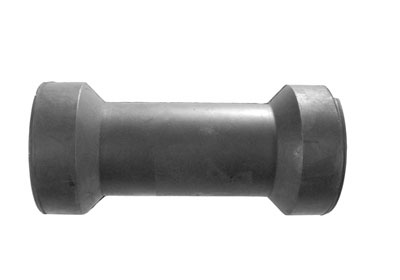 "91213 Rubber Roller, 6"" Keel Roller, 17mm Bore, Black"