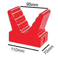 "91413  5"" Poly V Block Red  Base 110mm"