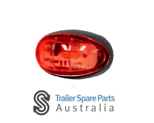 WHITEVISION Trailer LED Side Marker Red In Blister Pack