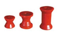 Red Poly Boat Rollers