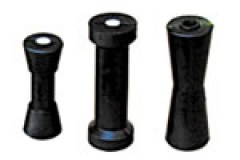 Black / Rubber Boat Rollers