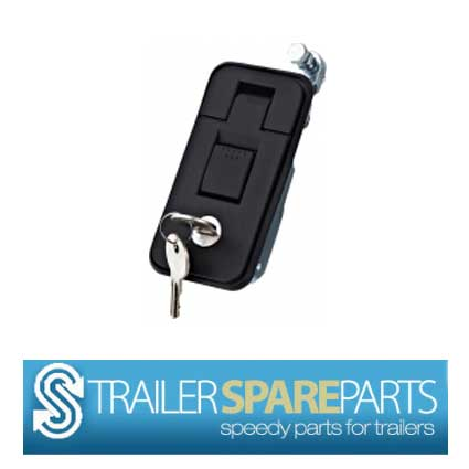 TSPA-FLBS Flush Lock Black Small Size: 35mm x 80mm