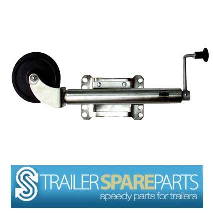 "TSPA-JW06-S 6"" Swing Up PLated Jockey Wheel. Load Capacity 500lb"
