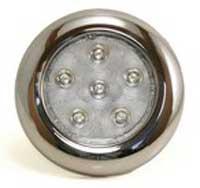 TSPA-INDOM-SS Round Interior Dome Light 6 LED 12v