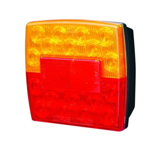 TSPA-TL100-1 LED Square Taillight with Number Plate Light (12V)