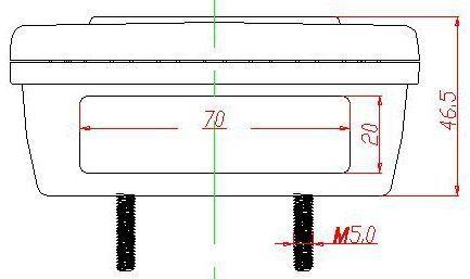 JS-TL100-1 Taillight LED Square (12V)