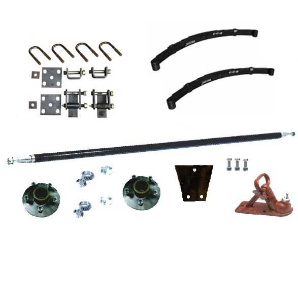TKIT0.75EE 750Kg Single Axle Kit, 5LF Shacke Springs