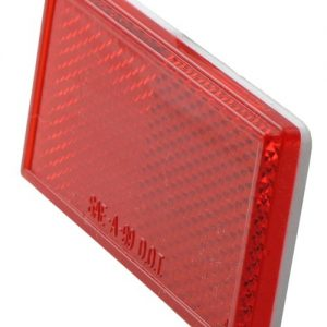 TSPA-REFR-30-A Reflector Red Rectangle 85mm x 30mm, Adhesive