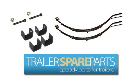TSPA-S3ES45KIT  600Kg Single Axle Slipper Spring 3LF