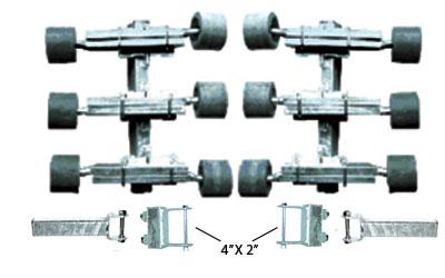 """91994  12 Rear Adjustable Wobble Roller Assemblies 4""""x2"""""""