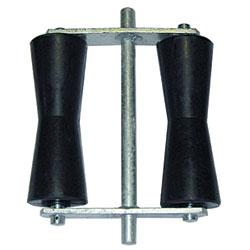 """91933  8"""" Concave Black Roller Assemblies"""
