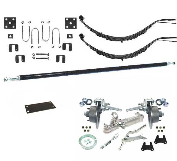 TKIT1.3ES/D 1300Kg Single Axle Kit, 7LF Slipper Springs Disc Bra