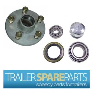 TSPA-HBFDG-SL Ford Galvanized Lazy Hub With Ford Bearings (SL)