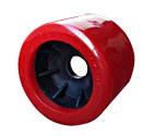 "91116  4"" RED SMOOTH WOBBLE ROLLER - 25mm ID"