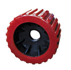 "91104 3"" RED RIBBED WOBBLE ROLLER - 20mm ID"