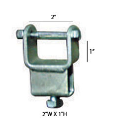"92150 Chassis Clamps 2"" X 1"" TUBE SIDE ADJUSTER BRACKET"