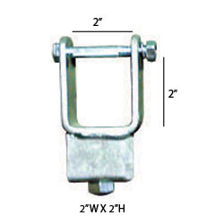 "92151 Chassis Clamps 2"" X 2"" TUBE SIDE ADJUSTER BRACKET"