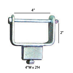 "92153 Chassis Clamps 4"" X 2"" TUBE SIDE ADJUSTER BRACKET"
