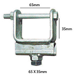 92154 Chassis Clamps 65mm X 35mm TUBE SIDE ADJUSTER BRACKET