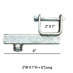 "92161 Chassis Clamps 2"" X 1"" X 6"" TUBE SIDE ADJUSTER BRACKET"