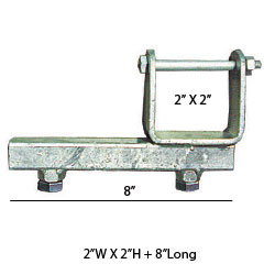 "92162 Chassis Clamps 2"" X 2"" X 6"" TUBE SIDE ADJUSTER BRACKET"